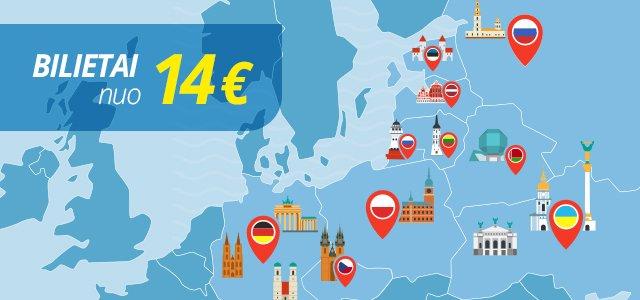 Ecolines biletai nuo 14€
