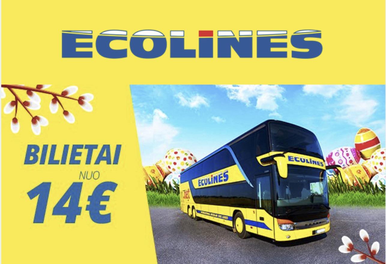 Įsigykite bilietus kelionėms balandžio mėnesį su ECOLINES