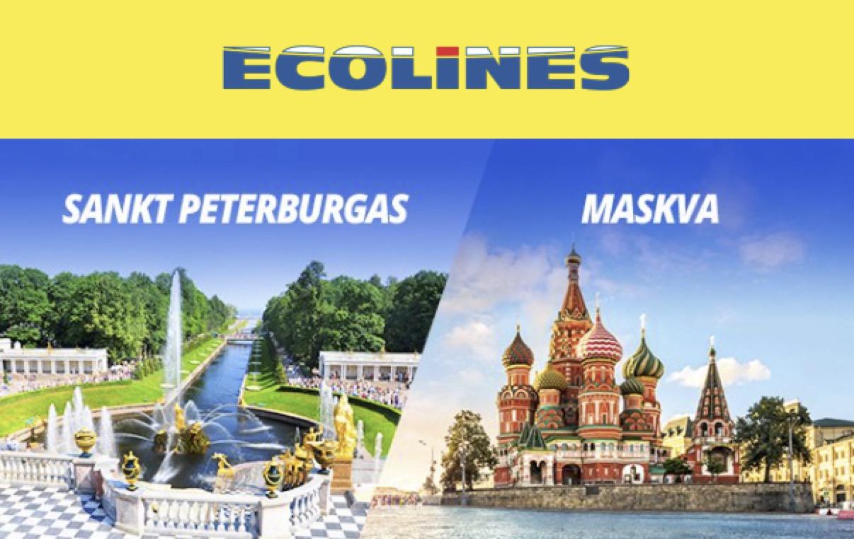 Ecolines atnaujinama reisai į Maskvą ir St. Peterburgą – jau galite įsigyti bilietus!