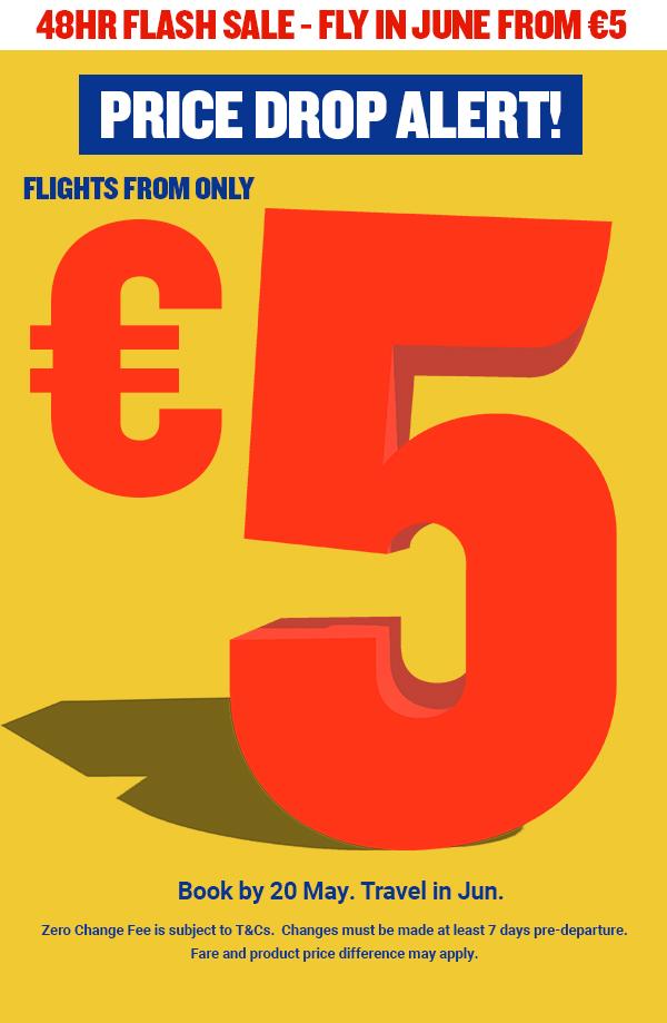 Pigūs skrydžiai tik nuo 5 €